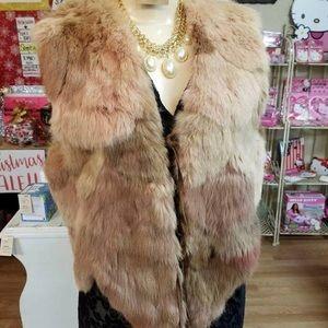 Jackets & Blazers - Authentic Rabbit fur vest